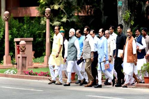 Prime Minister Narendra Modi is observing a day-long fast today along with BJP MPs to protest the washout of the just concluded Budget Session of Parliament. The fast however will not affect PMs daily routine.