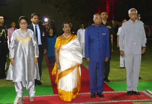 President of India and Governor of Jammu and kashmir at banquet on wednesday 18 April 2018
